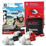 Alpine MotoSafe Pro Gehörschutz Ohrstöpsel Renn- und Touringstöpsel - Verhindern Gehörschäden vom Motorradfahren - Verkehr noch hörbar - Bequemes hypoallergenes Material - Wiederverwendbar