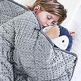 Peradix Gewichtete Decke für Kinder - Therapiedecke Anti Stress, 90x122cm kinderdecke Kuscheldecken für Angst und Schlafstörungen (Grau, 10 lbs, 152 * 104cm)