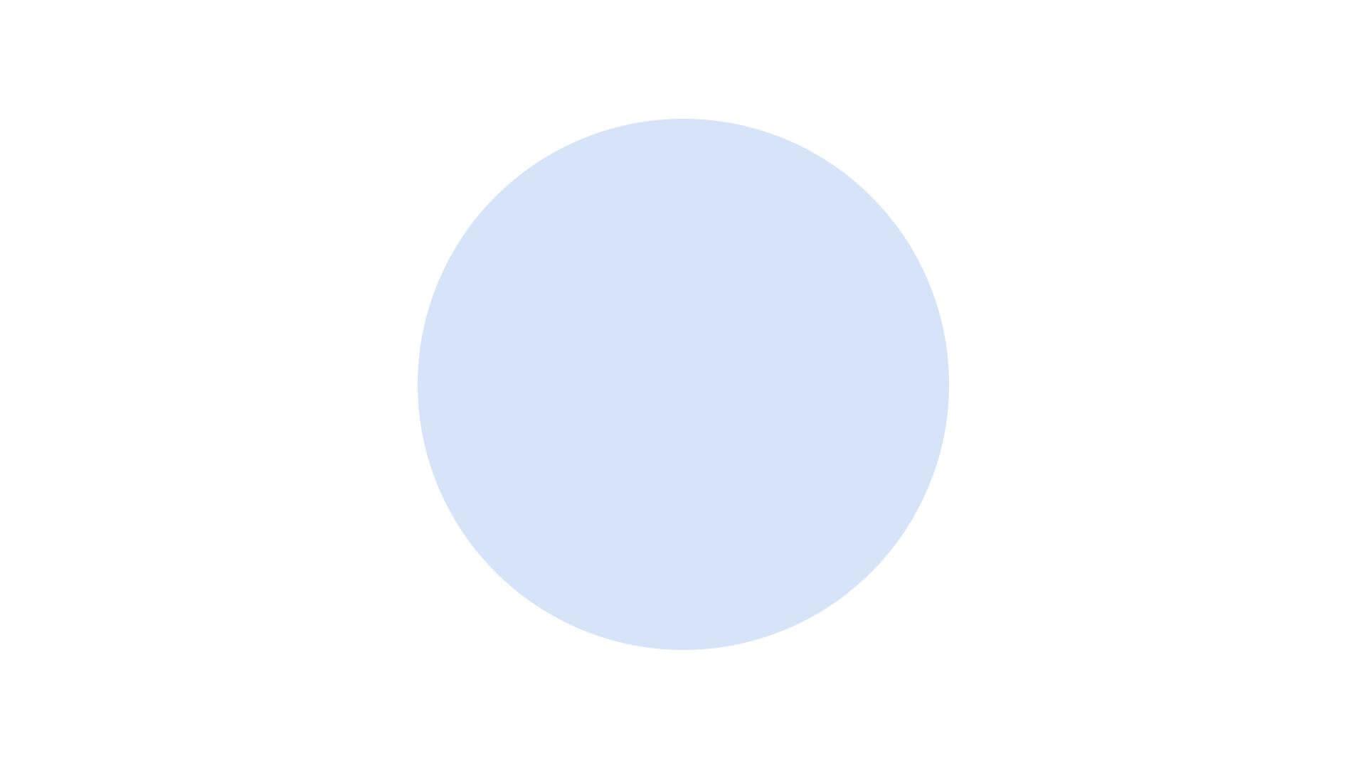Minimalismus - ein schlichter, blauer Punkt