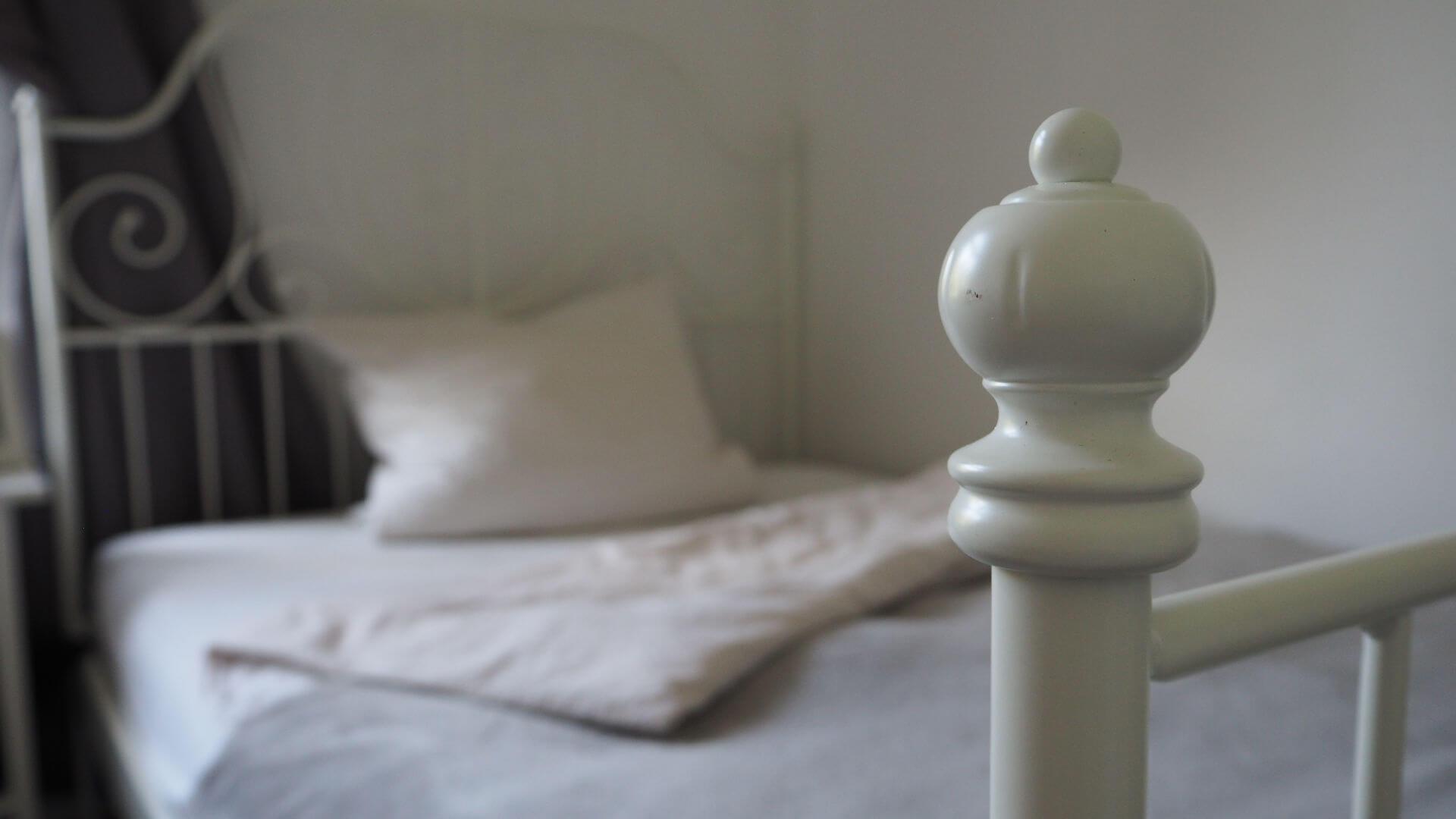 Kopfkissen im Bett